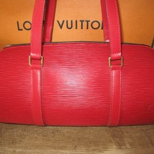 Louis Vuitton Bags - Red Epi Leather Soufflot Bag with Accessories Poc